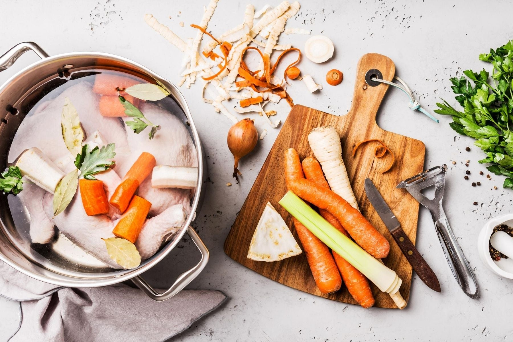 Recipe - Cooking for the Fur Kids - Chicken Stock