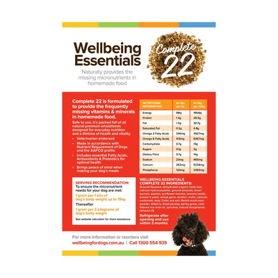 Essentials Complete 22 - 1kg Wellbeing for Dogs