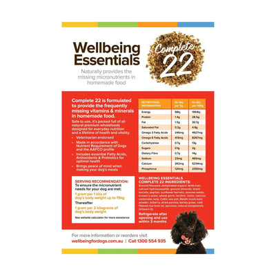 Essentials Complete 22 - 500g Wellbeing for Dogs