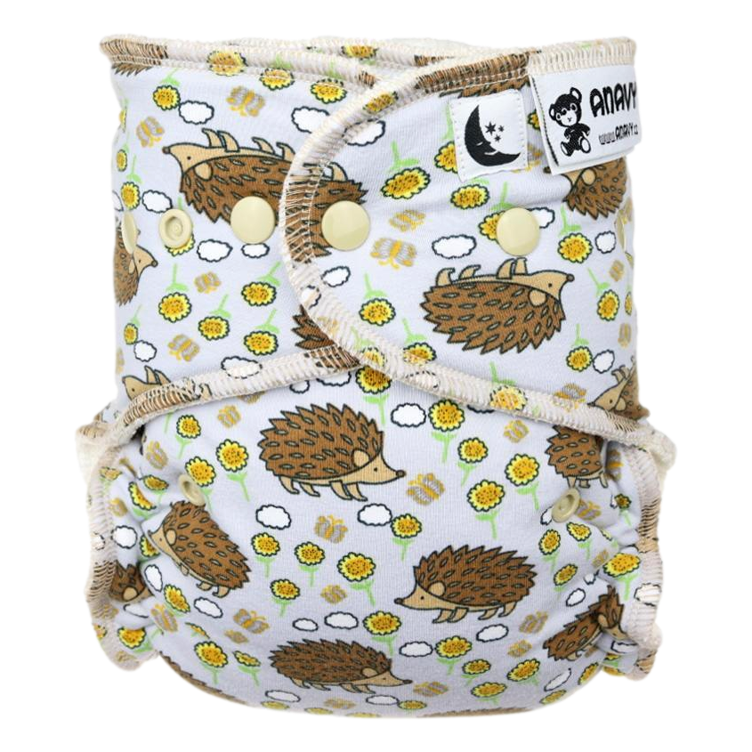 Anavy Maxi XL night diaper - Hedgehogs (incl. Long night insert)
