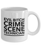 Evil Bitch Crime Scene Technician, 11Oz Coffee Mug Best Inspirational Gifts and Sarcasm Perfect Birthday Gifts for Men or Women / Birthday / Christmas Present - Ribbon Canyon