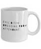 Funny Dressing Room Attendant Quote 11Oz Coffee Mug , Evil Bitch Dressing Room Attendant for Dad, Grandpa, Husband From Son, Daughter, Wife for Coffee & Tea Lovers - Ribbon Canyon