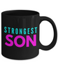 Strongest Son - Family Gag Gifts For Mom or Dad Birthday Father or Mother Day -   11oz Coffee Mug - Ribbon Canyon