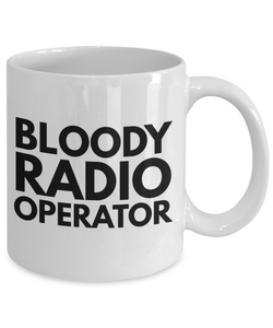 Bloody Radio Operator Gag Gift for Coworker Boss Retirement or Birthday - Ribbon Canyon
