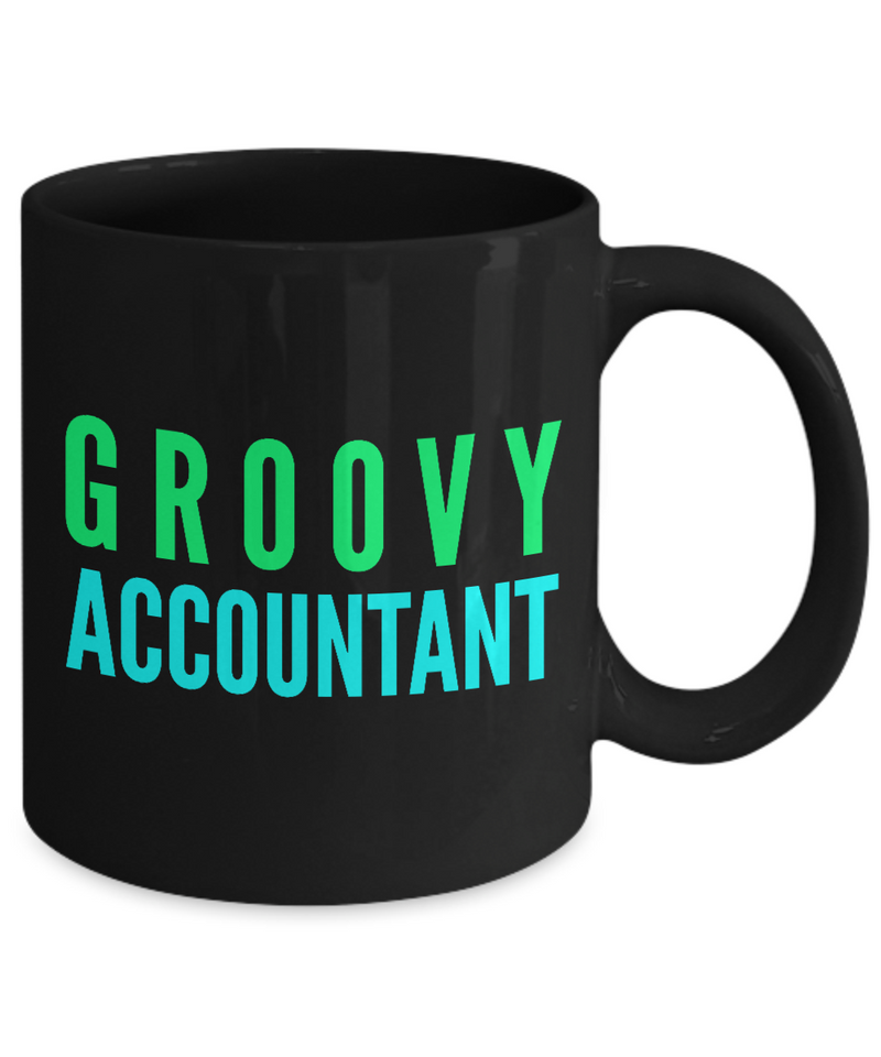 Groovy Accountant -  Coworker Friend Retirement Birthday or Graduate Gift -   11oz Coffee Mug - Ribbon Canyon