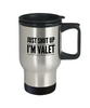 Just Shut Up I'm Valet Gag Gift for Coworker Boss Retirement or Birthday - Ribbon Canyon