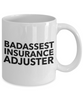 Funny Mug Badassest Insurance Adjuster   11oz Coffee Mug Gag Gift for Coworker Boss Retirement - Ribbon Canyon