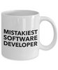 Mistakiest Software Developer, 11oz Coffee Mug  Dad Mom Inspired Gift - Ribbon Canyon