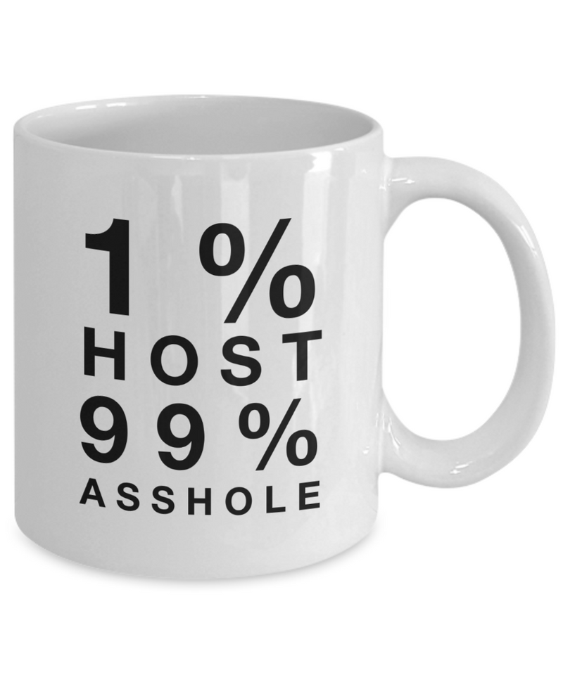 1% Host 99% Asshole Gag Gift for Coworker Boss Retirement or Birthday - Ribbon Canyon