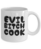 Evil Bitch Cook, 11Oz Coffee Mug Unique Gift Idea for Him, Her, Mom, Dad - Perfect Birthday Gifts for Men or Women / Birthday / Christmas Present - Ribbon Canyon