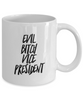 Funny Vice President Quote 11Oz Coffee Mug , Evil Bitch Vice President for Dad, Grandpa, Husband From Son, Daughter, Wife for Coffee & Tea Lovers - Ribbon Canyon