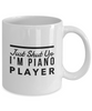 Funny Mug Just Shut Up I'm Piano Player 11Oz Coffee Mug Funny Christmas Gift for Dad, Grandpa, Husband From Son, Daughter, Wife for Coffee & Tea Lovers Birthday Gift Ceramic - Ribbon Canyon