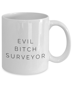 Funny Mug Evil Bitch Surveyor 11Oz Coffee Mug Funny Christmas Gift for Dad, Grandpa, Husband From Son, Daughter, Wife for Coffee & Tea Lovers Birthday Gift Ceramic - Ribbon Canyon