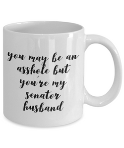 You May Be An Asshole But You'Re My Senator Husband Gag Gift for Coworker Boss Retirement or Birthday - Ribbon Canyon