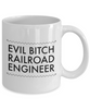 Funny Mug Evil Bitch Railroad Engineer 11Oz Coffee Mug Funny Christmas Gift for Dad, Grandpa, Husband From Son, Daughter, Wife for Coffee & Tea Lovers Birthday Gift Ceramic - Ribbon Canyon
