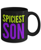 Spiciest Son - Family Gag Gifts For Mom or Dad Birthday Father or Mother Day -   11oz Coffee Mug - Ribbon Canyon