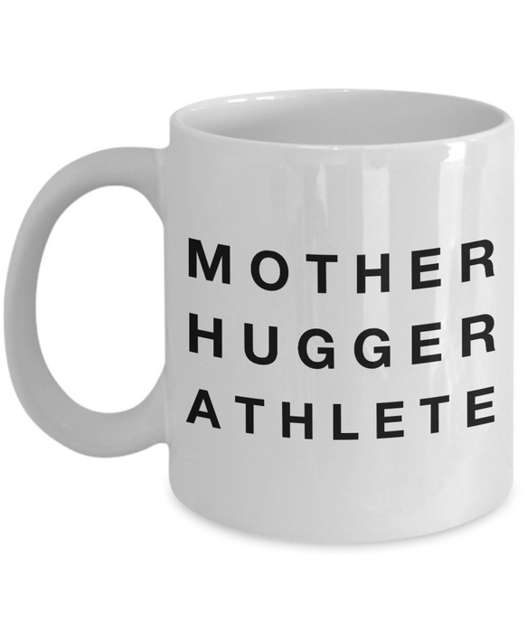 Mother Hugger Athlete, 11oz Coffee Mug Gag Gift for Coworker Boss Retirement or Birthday - Ribbon Canyon