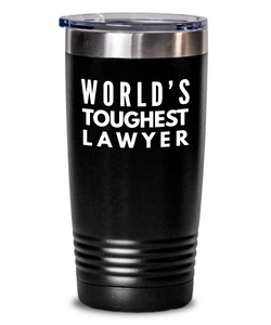 Lawyer - Novelty Gift White Print 20oz. Stainless Tumblers - Ribbon Canyon