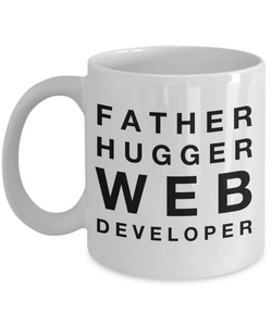 Father Hugger Web Developer Gag Gift for Coworker Boss Retirement or Birthday - Ribbon Canyon