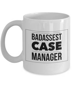 Badassest Case Manager Gag Gift for Coworker Boss Retirement or Birthday - Ribbon Canyon
