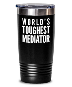 Mediator - Novelty Gift White Print 20oz. Stainless Tumblers - Ribbon Canyon