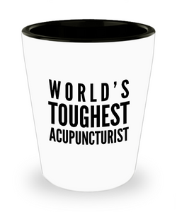 Friend Leaving Novelty Short Glass for Acupuncturist
