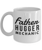 Father Hugger Mechanic, 11oz Coffee Mug Gag Gift for Coworker Boss Retirement or Birthday - Ribbon Canyon