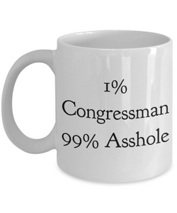 1% Congressman 99% Asshole Gag Gift for Coworker Boss Retirement or Birthday - Ribbon Canyon