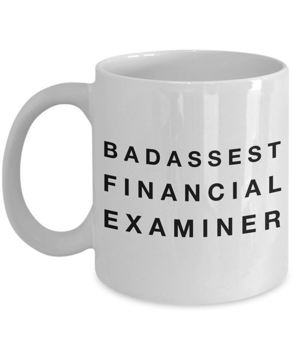 Badassest Financial Examiner Gag Gift for Coworker Boss Retirement or Birthday - Ribbon Canyon