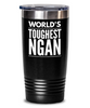 #GB Tumbler White NAME 3698 World's Toughest NGAN