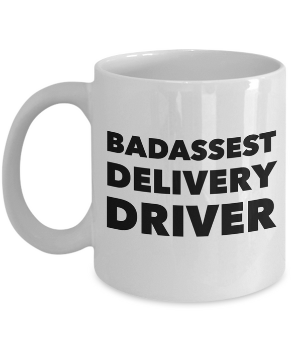 Funny Mug Badassest Delivery Driver   11oz Coffee Mug Gag Gift for Coworker Boss Retirement - Ribbon Canyon