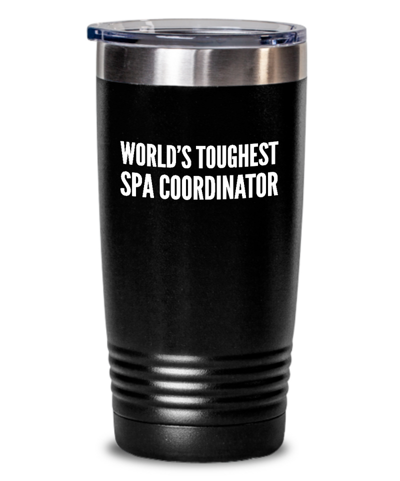 Spa Coordinator - Novelty Gift White Print 20oz. Stainless Tumblers - Ribbon Canyon