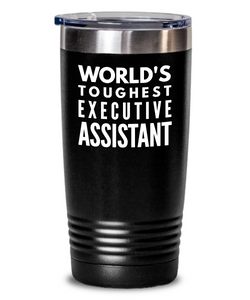 Executive Assistant - Novelty Gift White Print 20oz. Stainless Tumblers - Ribbon Canyon