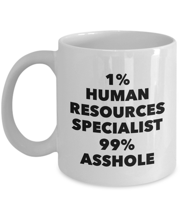 1% Human Resources Specialist 99% Asshole Gag Gift for Coworker Boss Retirement or Birthday - Ribbon Canyon