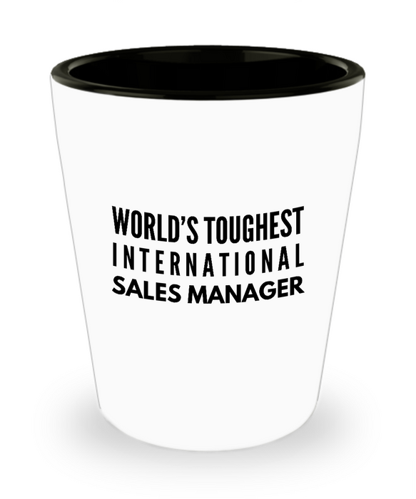 Friend Leaving Novelty Short Glass for International Sales Manager