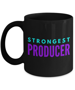 Strongest Producer -  Coworker Friend Retirement Birthday or Graduate Gift -   11oz Coffee Mug - Ribbon Canyon