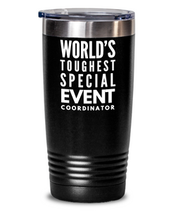 Special Event Coordinator - Novelty Gift White Print 20oz. Stainless Tumblers - Ribbon Canyon