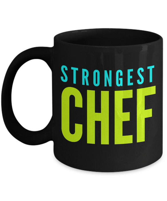 Strongest Chef -  Coworker Friend Retirement Birthday or Graduate Gift -   11oz Coffee Mug - Ribbon Canyon