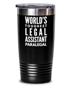 Legal Assistant Paralegal - Novelty Gift White Print 20oz. Stainless Tumblers - Ribbon Canyon
