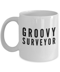 Groovy Surveyor - Birthday Retirement or Thank you Gift Idea -   11oz Coffee Mug - Ribbon Canyon