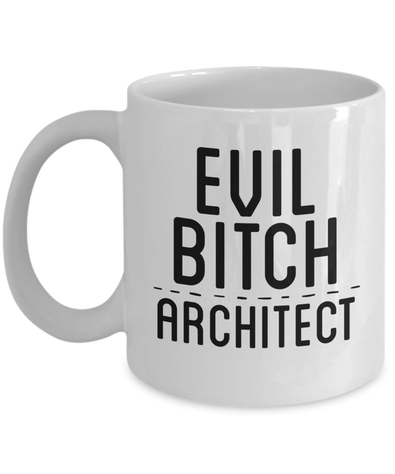 Evil Bitch Architect, 11Oz Coffee Mug Best Inspirational Gifts and Sarcasm Perfect Birthday Gifts for Men or Women / Birthday / Christmas Present - Ribbon Canyon