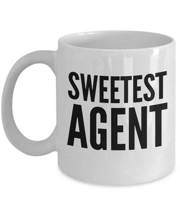Sweetest Agent - Birthday Retirement or Thank you Gift Idea -   11oz Coffee Mug - Ribbon Canyon