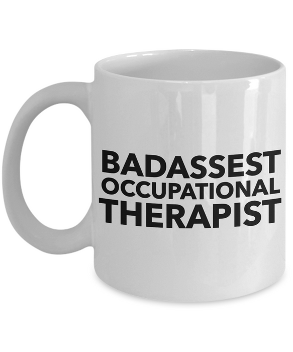Funny Mug Badassest Occupational Therapist   11oz Coffee Mug Gag Gift for Coworker Boss Retirement - Ribbon Canyon