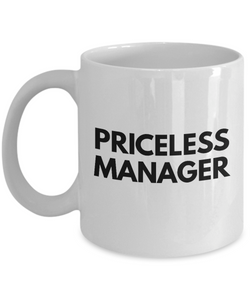 Priceless Manager - Birthday Retirement or Thank you Gift Idea -   11oz Coffee Mug - Ribbon Canyon