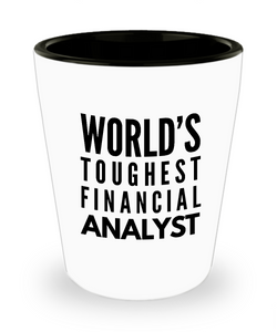 Friend Leaving Novelty Short Glass for Financial Analyst