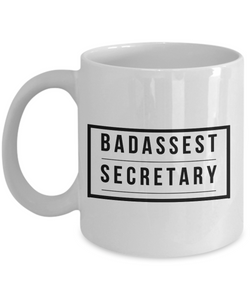 Badassest Secretary Gag Gift for Coworker Boss Retirement or Birthday - Ribbon Canyon