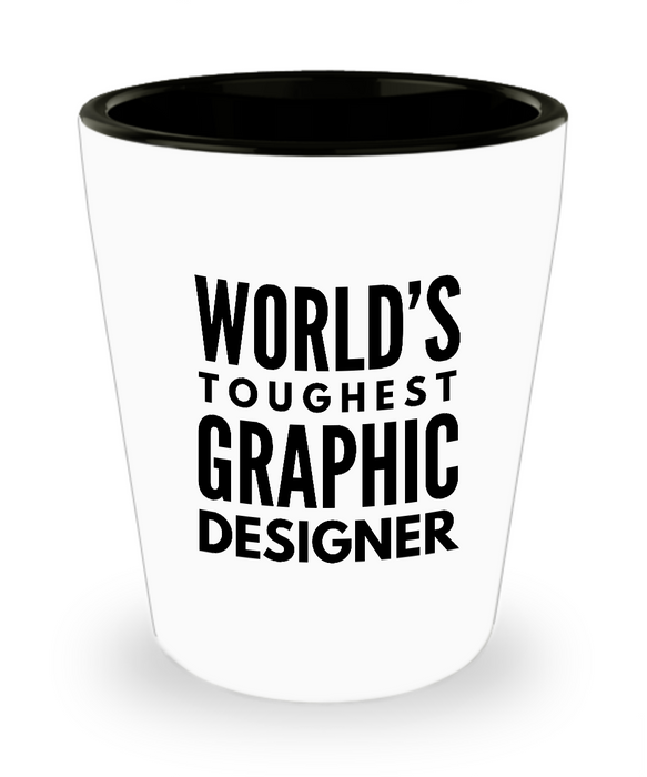 Friend Leaving Novelty Short Glass for Graphic Designer