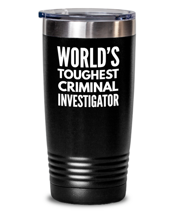Criminal Investigator - Novelty Gift White Print 20oz. Stainless Tumblers - Ribbon Canyon
