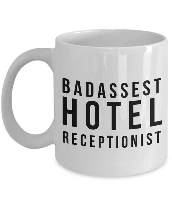 Badassest Hotel Receptionist Gag Gift for Coworker Boss Retirement or Birthday - Ribbon Canyon