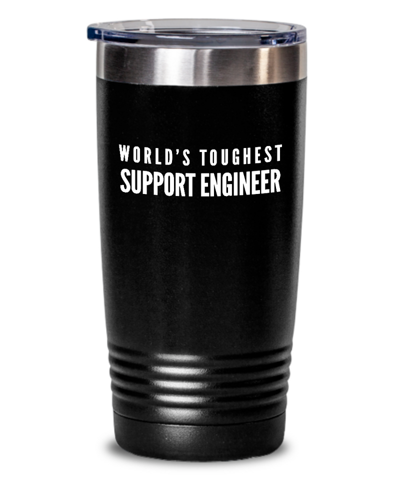 Support Engineer - Novelty Gift White Print 20oz. Stainless Tumblers - Ribbon Canyon